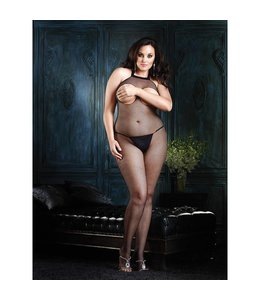 Leg Avenue Plus Size Catsuit Bust Out