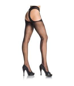 Leg Avenue Jarretel Panty - Zwart
