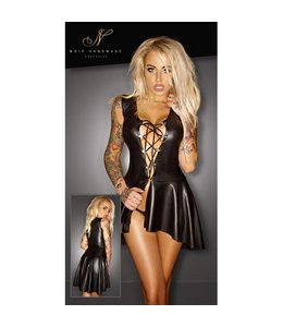 Noir Handmade Dress with Lacing
