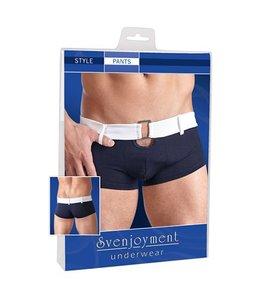 Svenjoyment Underwear Blauwe boxershort in retrostijl