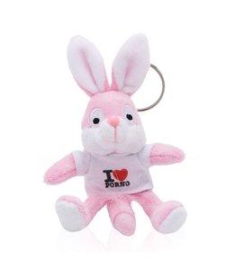 Naughty Bunny Sleutelhanger Naughty Bunny - Wit