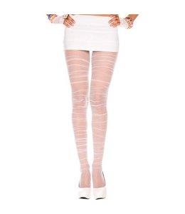 Music Legs Geplooide Panty - Wit
