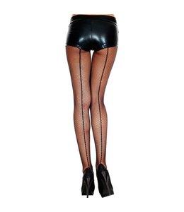 Music Legs Visnetpanty Met Enkele En Dubbele Naad - Zwart