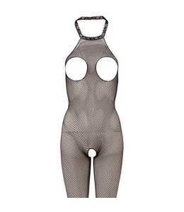 Mandy mystery Line Open-cup net catsuit S-L
