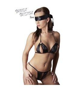 Mandy mystery Line Bikini met bondage sjaal