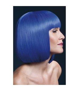 Fever Korte Pruik - Neon Blauw