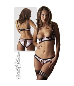 Cottelli Collection Half open roze bh set