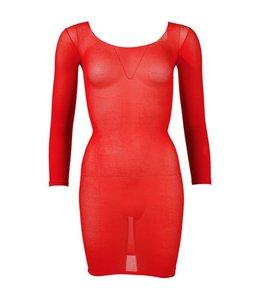 Mandy mystery Line Nylon rood mini jurkje