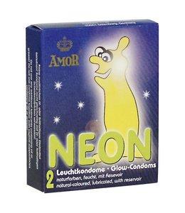 You2Toys AMOR Neon Glow in the Dark Condooms - 2 stuks