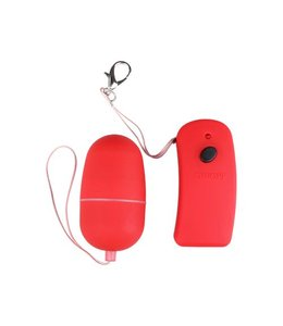 You2Toys Red vibro bullet with remote control