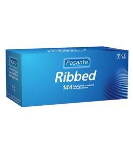 Pasante Pasante Ribbed condooms 144 stuks