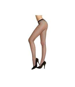 Music Legs Musiclegs Zwarte Netstof Panty