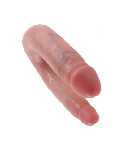 King Cock King Cock Small Double Trouble 33,5 cm - Flesh