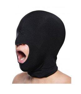 Master Series Zwart rekbaar masker open mond