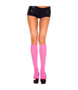 Music Legs Basic Kniekousen - Roze