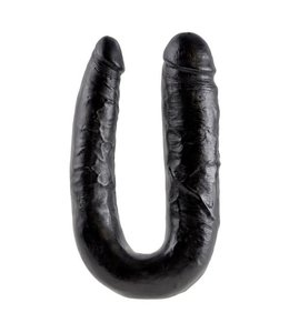 King Cock King Cock Large Double Trouble 44,5 cm - zwart