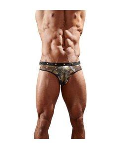 Svenjoyment Underwear Camouflage String Met Studs