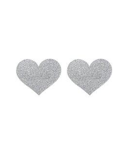 Bijoux Indiscrets Flash Heart Tepelstickers - Zilver