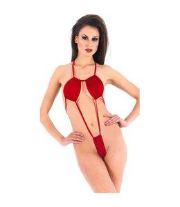 Vixson Vixson Minimalistische Body Met Bandjes - Rood