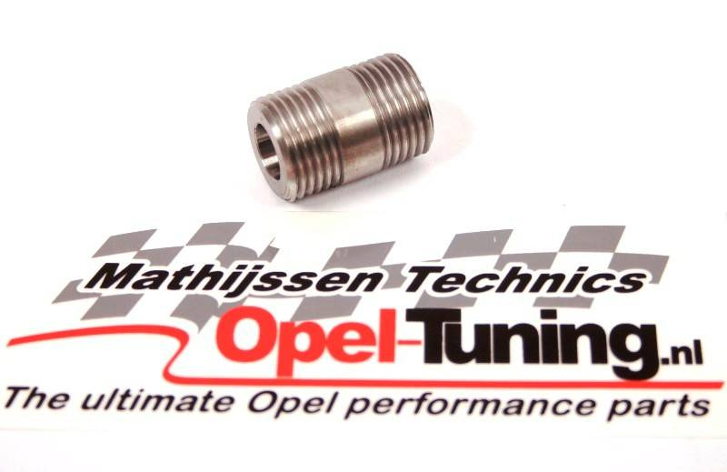 Opel GM Oil filter connector for driving without oil cooler.