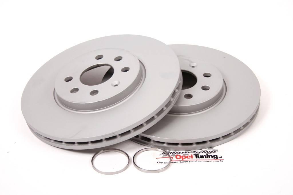 Set 284 x 24 mm 4 stud brake dics.