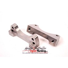 Mathijssen Technics Caliper brackets for fitting Brembo brakes on the front axle of Astra-H, Astra-G, Zafira-A and Zafira-B