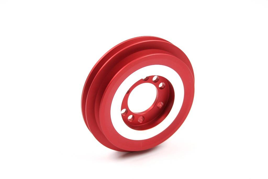 Mathijssen Technics Twin groove bottom crank pulley for several Opel and Vauxhall engines.