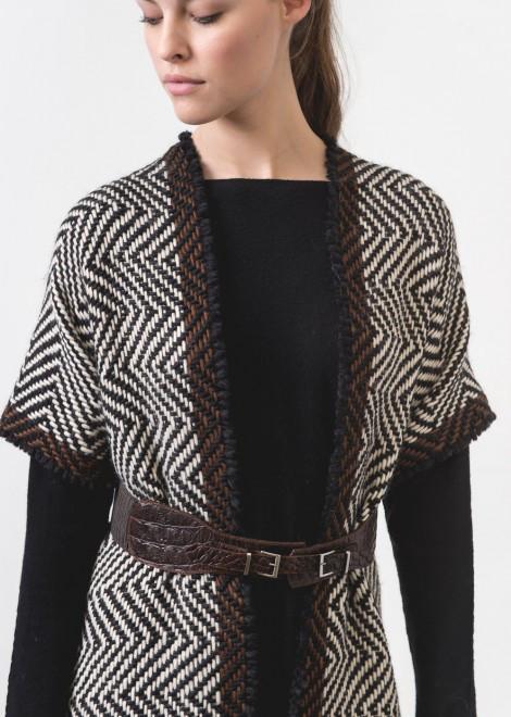 La fee maraboutee crocodile leather print belt escape boutique - La fee maraboutee nantes ...
