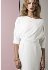 Fee G Fee G - Asymetrical neck bracelet sleeve dress.