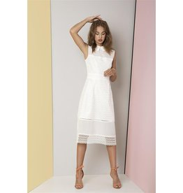 Fee G Fee g - Panel Lace Dress with Collar