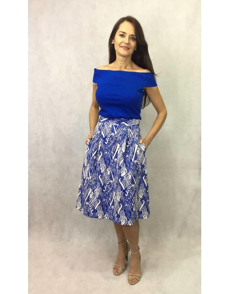 Fee G Fee G - Embossed Print Skirt