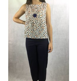 La Fee Maraboutee La Fee Maraboutee - Spotted Sleeveless Top