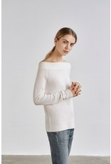 Charli London Charli - 100% Cashmere Crosby off the shoulder jumper