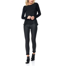 Salsa Jeans Secret Skinny Leather Look Jeans