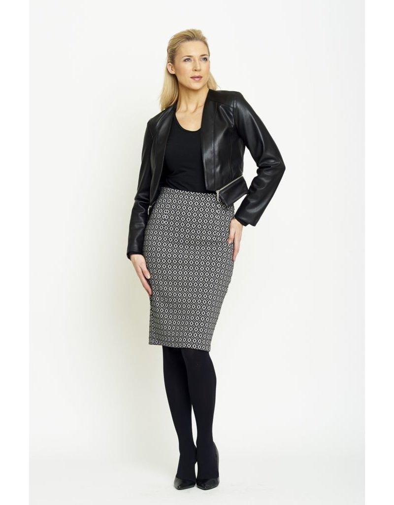 Peruzzi Peruzzi - Monochrome Stretch Skirt