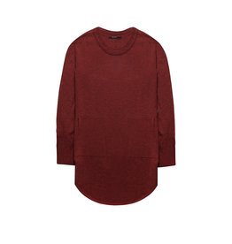 10 Feet Long fine knitted pullover with knit stitch details