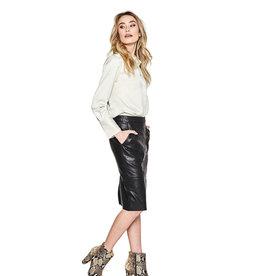10 Feet Feminine satin long cuff detail blouse