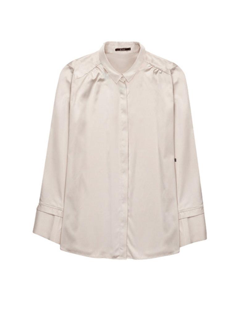 10 Feet 10 Feet - Feminine satin long cuff detail blouse