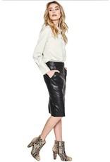 10 Feet 10 Feet - Faux Leather Pencil Skirt
