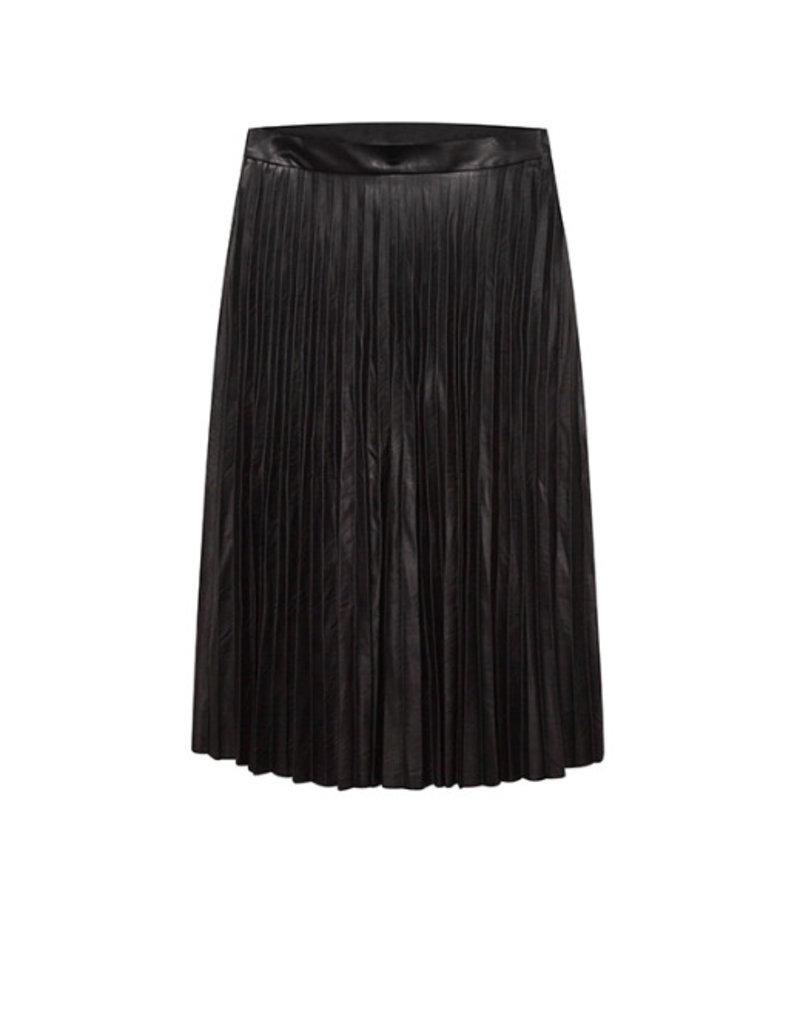 10 Feet 10 Feet - Faux Leather Plisse Skirt