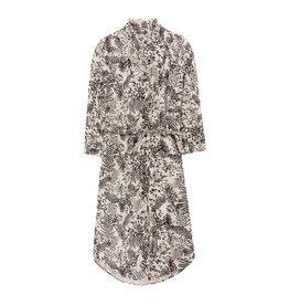 10 Feet Button Through Dress with Ruffle Details & Botanical Print