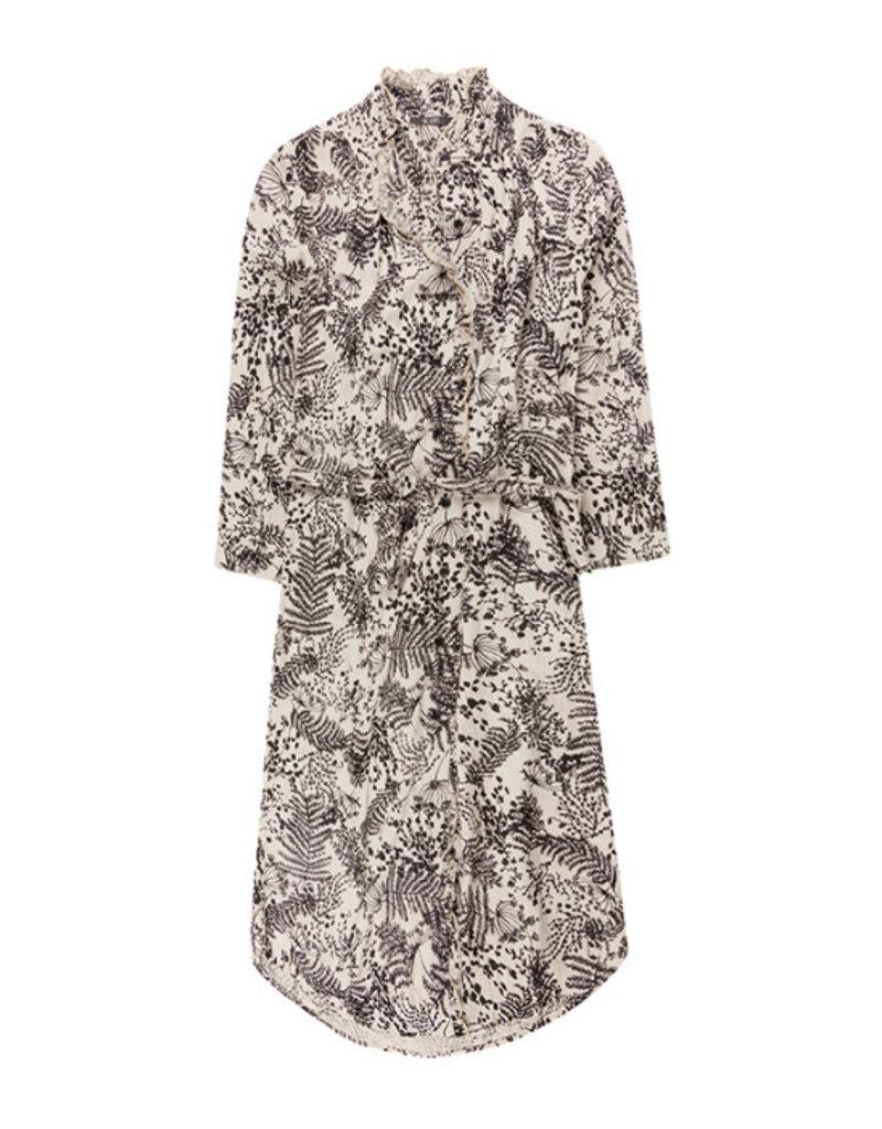 10 Feet 10 Feet - Button Through Dress with Ruffle Details & Botanical Print