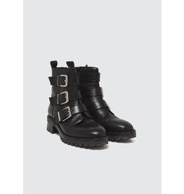 La Fee Maraboutee Black Leather Buckle Boots
