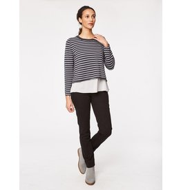 Thought Camille Striped Top with shirt underlay.