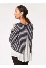 Thought Thought - Camille Striped Top with shirt underlay.