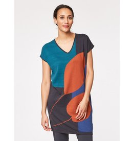 Thought Gallery Print Knit Tunic