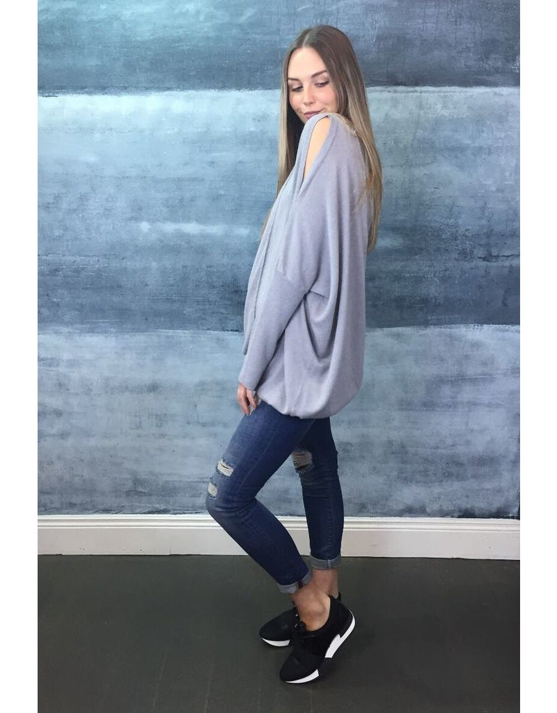 Humility Humility - Cold Shoulder Pullover