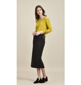 Charli London Brigitte Charcoal Skirt