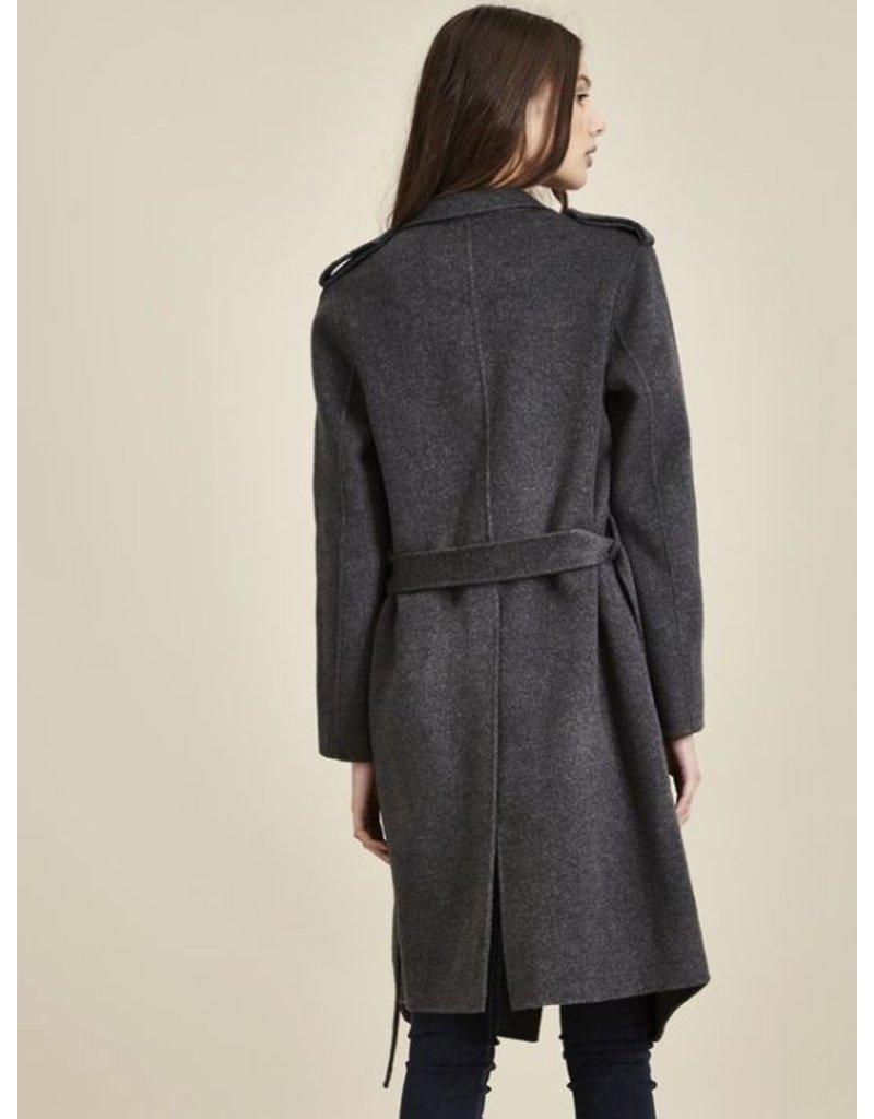 Charli London Charli - Drew 100% Lambswool Trench Coat