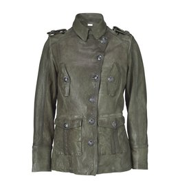 Gustav Denmark Leather Military Jacket